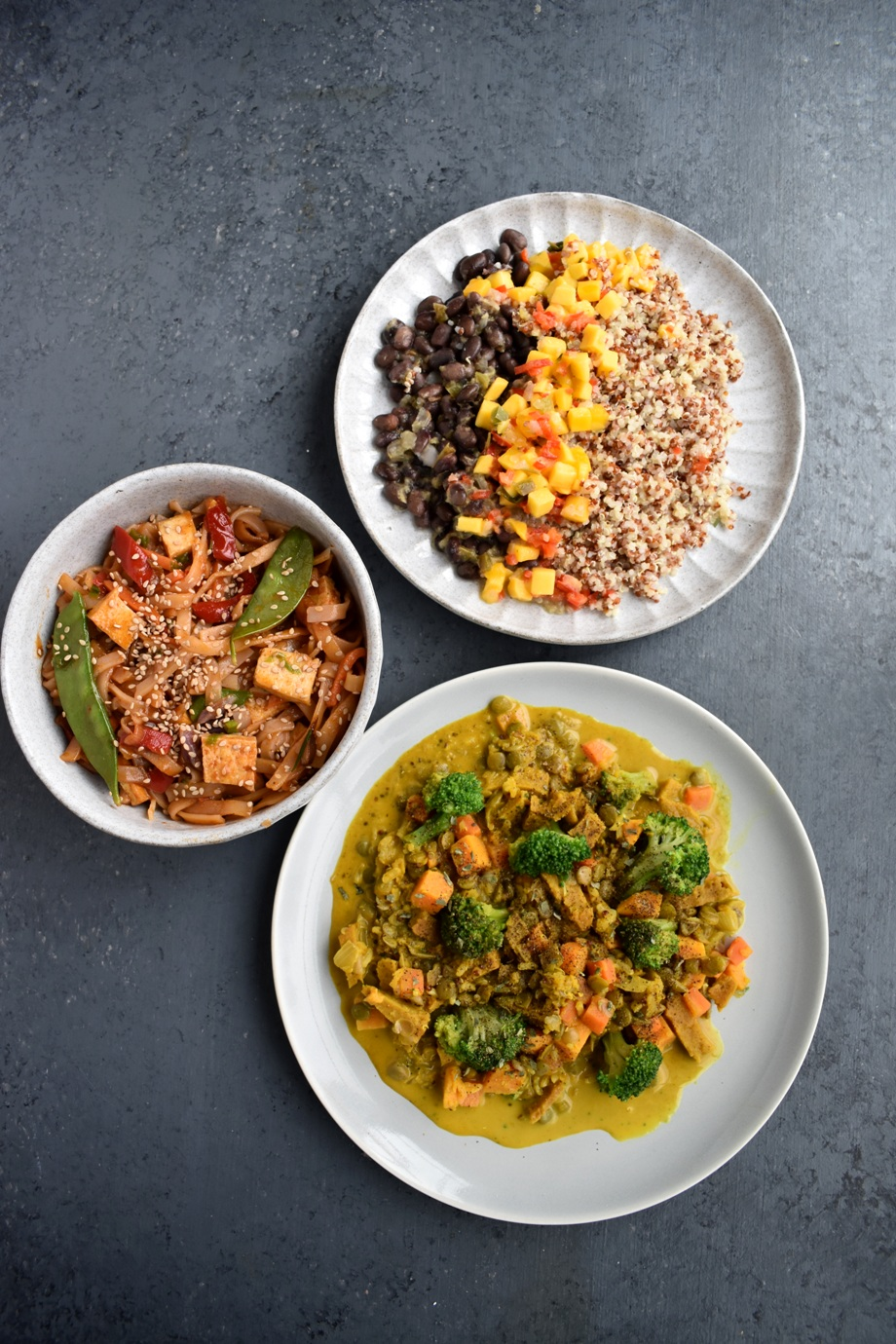 Quick and easy vegetarian meals featuring Sweet Earth Foods protein and fiber packed entree bowls and burritos!