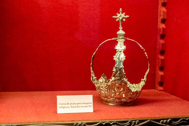 Coroa de prata para imagem religiosa