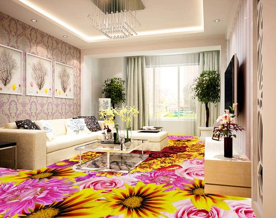 3D Epoxy Flooring Paint For Interior Of Bathroom Living Room Bedroom