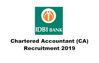 Chartered Accountant (CA) Recruitment in IDBI Bank (40 Posts), Apply Online. Last Date: