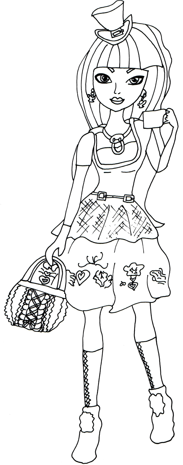 Free Printable Ever After High Coloring Pages: Cerise Hood