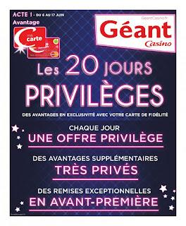 Catalogue Géant Casino 06 au 18 Juin 2017