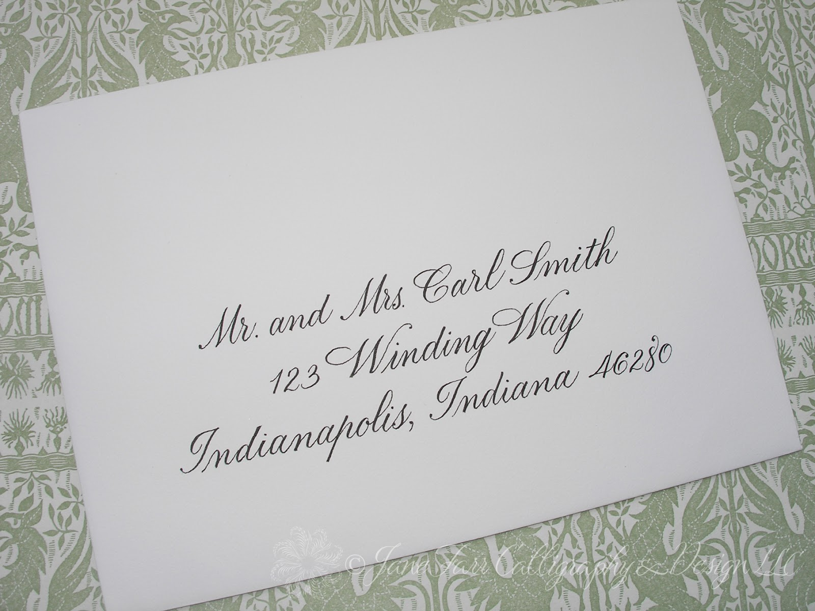 Wedding Calligraphy By Jane Farr