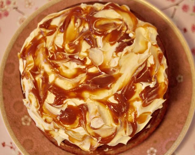 Banana and salted caramel layer cake