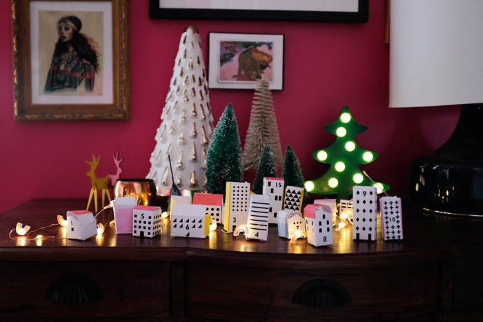 Christmas Village Advent Calendar-design addict mom