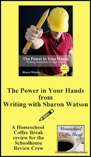 The Power in Your Hands (Writing Non-Fiction in High School) from Writing with Sharon Watson - A Homeschool Coffee Break review for the Schoolhouse Review Crew on kympossibleblog.blogspot.com
