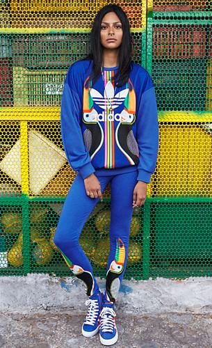 Adidas Originals e Farm quarta coleção calça legging moletom e tênis com estampa Tukana