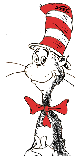 free clipart cat in the hat - photo #23