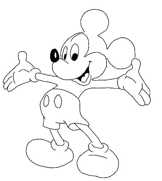 Gambar Mewarnai Mickey Mouse Untuk Anak Paud Dan Tk
