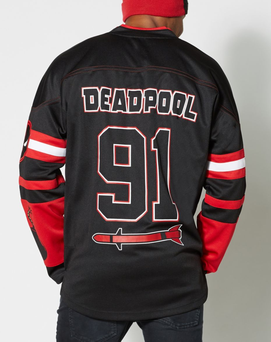 f7a2875621e Deadpool Hockey Jersey