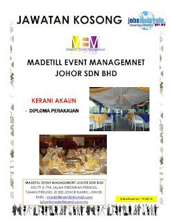 Madetill Event Management Kerja Kosong