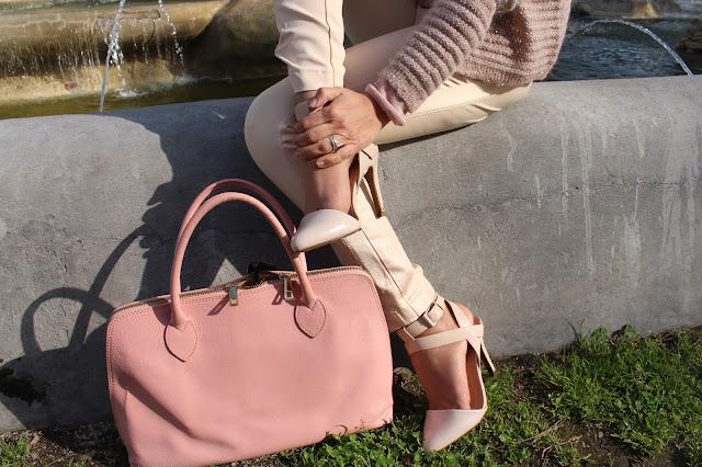 borsa rosa quarzo