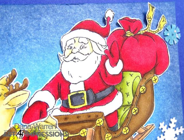 Dana Warren - Kraft Paper Stamps - Art Impressions - Christmas