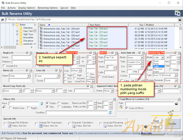 Rename File Masal dengan mudah menggunakan bulk rename utillity-anditii.web.id