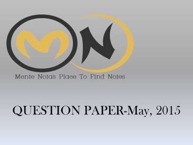 Industrial Automation And Robotics Question Paper 2015 Mente