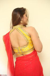 Actress Ashwini in Golden choli Red saree Spicy Pics ~  083.JPG