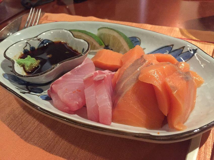 Fresh sashimi at Circles Event Cafe
