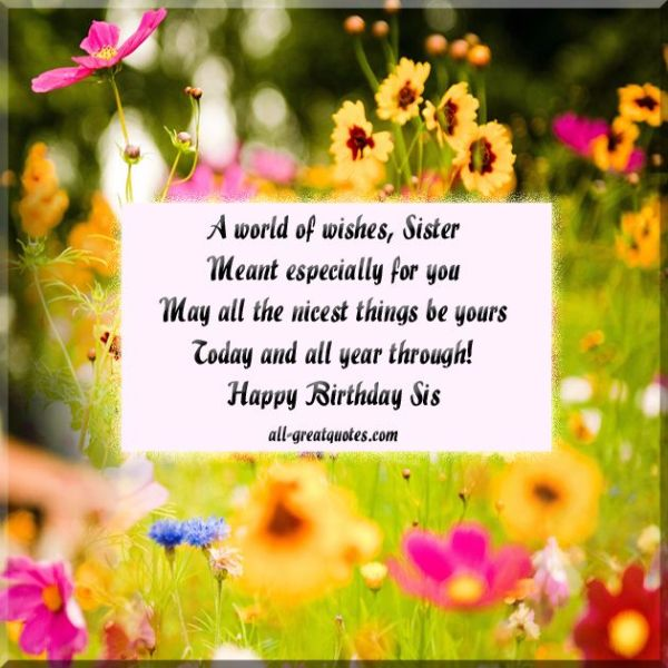 Birthday Wishes Messages For A Best Sister Really Good Life Quotes Happy Birthday Wishes Message