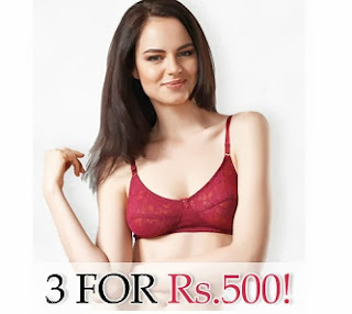 Get any 3 Women's Undergarment just for Rs.500 @ Zivame