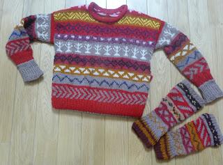 sweterek dziecięcy wzór norweski