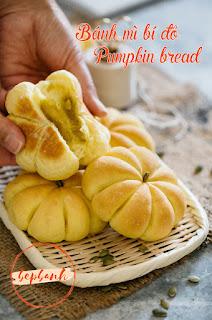Công thức làm bánh mì bí đỏ hấp dẫn ngọt ngào 8