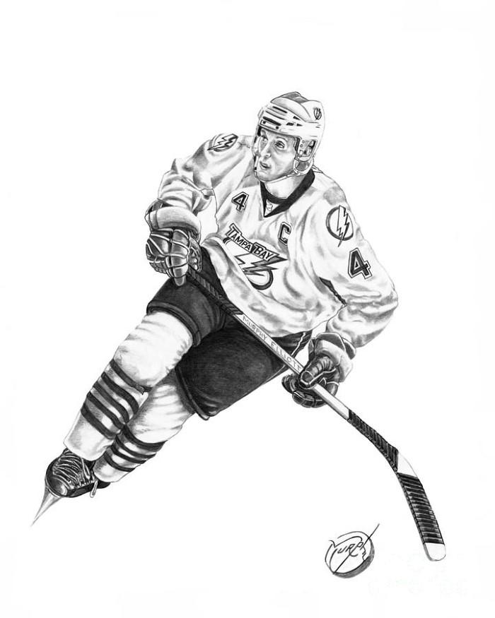 хоккеист рисунок карандашом худенькая