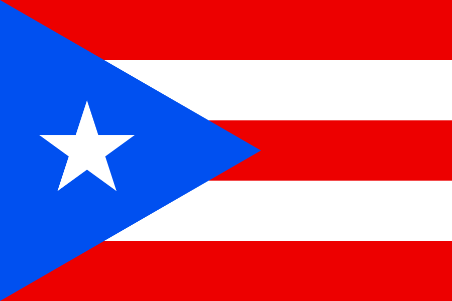 paises con bandera color azul