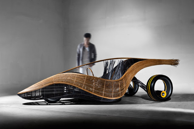 konsep mobil berbahan bambu