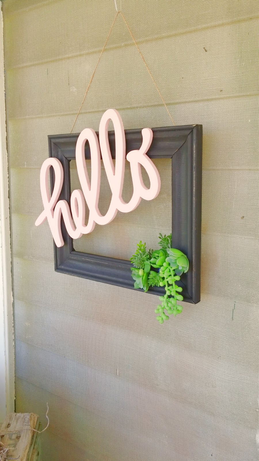 upcycled door wreath
