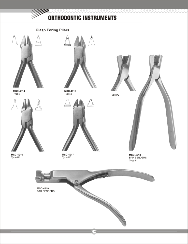 Manufacturers of Dental surgical instruments: Orthodontic