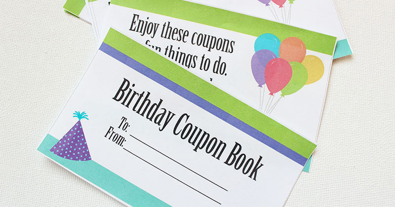 photograph about Printable Coupon Book named This Printable Birthday Coupon Ebook is the Easiest Reward for