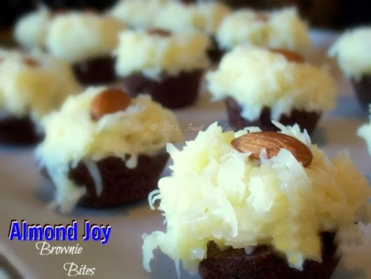 Almond Joy Brownie Bites! An Adult Easter Candy Choice!
