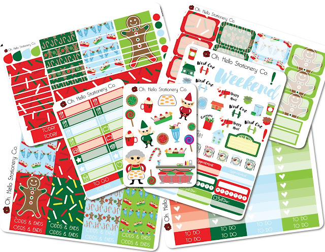 Oh, Hello Stationery Mrs. Claus's Bakery Weekly Kit