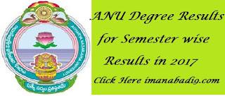 Manabadi ANU Degree Semester Results 2017, Manabadi ANU Results 2017 - 2018
