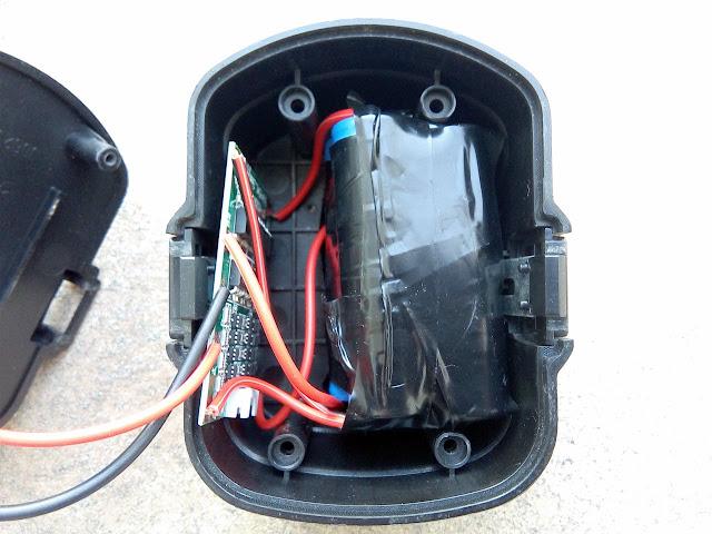 Bateria montada na caixa