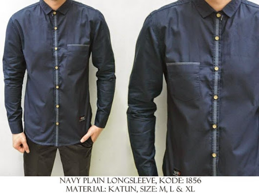 NAVY PLAIN LONG SLEEVE KODE : 1856 IDR 120.000 | Welcome