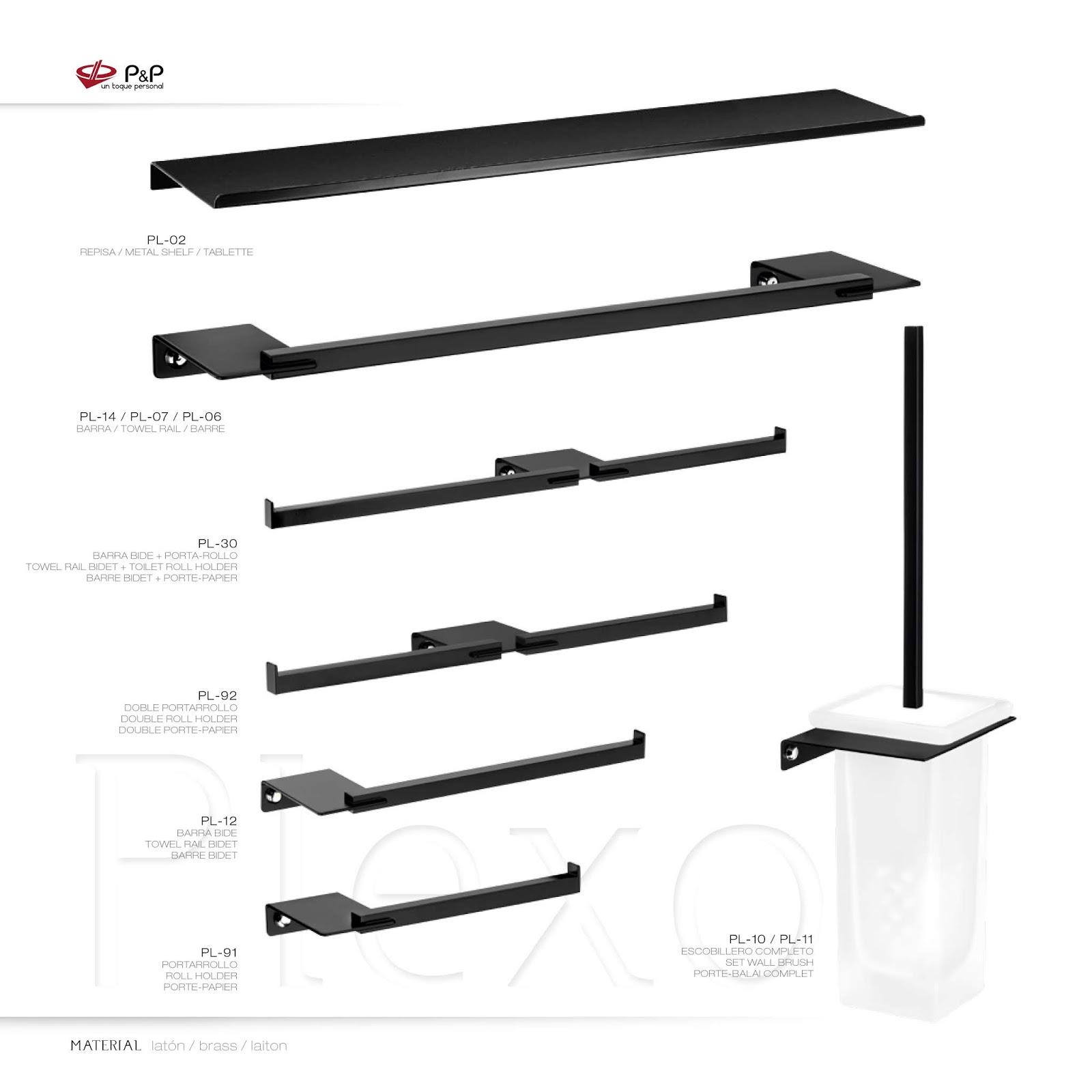 El Blog del Baño  Accesorios y apliques en negro para tu baño f504da8efd13