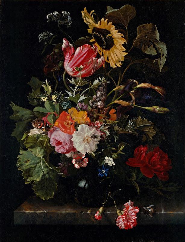 Maria van Oosterwyck - Bouquet of Flowers in a Vase (c.1670)
