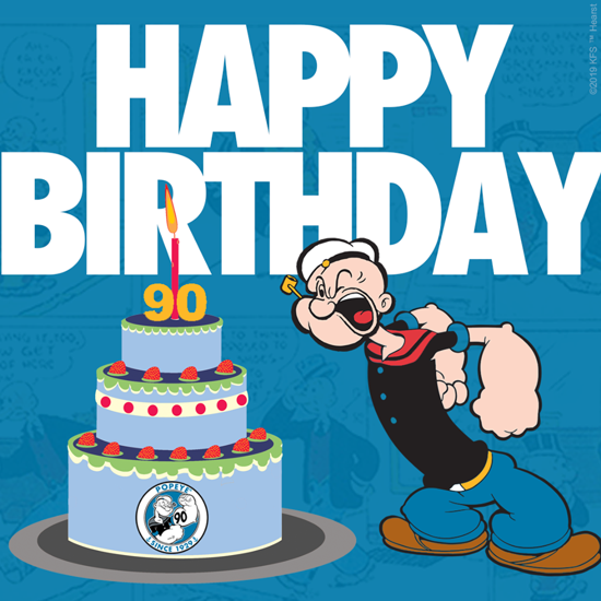 Popeye 90th birthday 2019