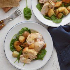 Receta para pollo con papas y limón al horno
