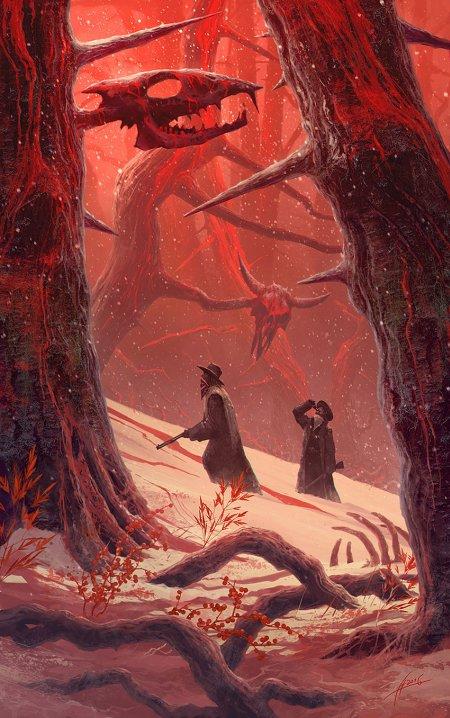 Alexey Egorov artstation arte ilustrações fantasia sombria terror infernal sobrenatural religioso