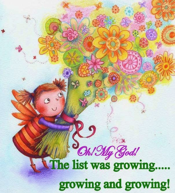The list was growing.....growing......and growing!