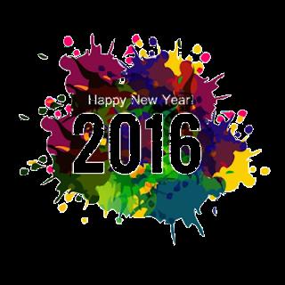 Bonne Année 2016 Trasnparent GIF