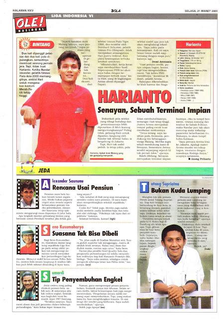LIGA INDONESIA VI PROFIL BINTANG HARIANTO