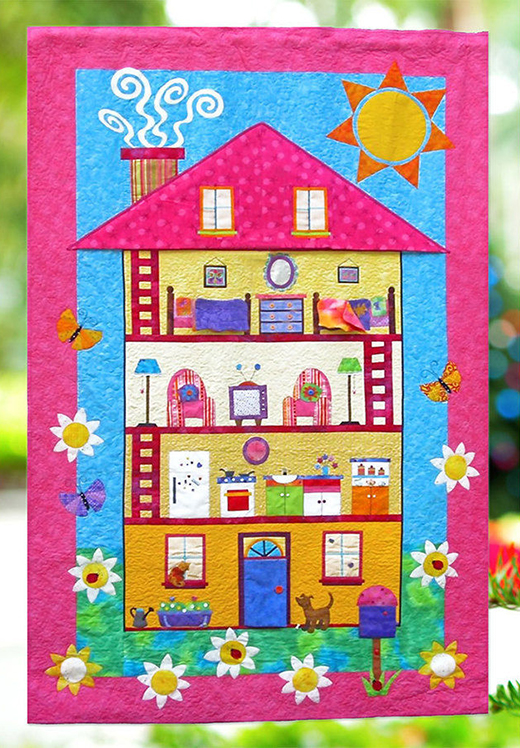 Miss Molly's Doll House Quilt Free Pattern Designed by Antonie Alexander of Makerist