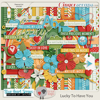 Creative Team, Annemarie, for GingerScraps – Free Daily Download to obtain a Full Sized Kit Lucky For You -- March 2018 Daily Download - Free Kit