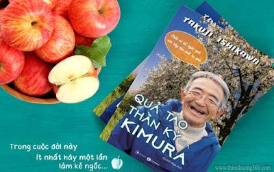 Ông Kimura thường đùa rằng: Chắc vì tôi ngốc quá nên cây táo mới ra hoa