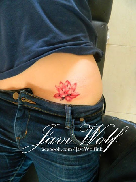 Small Lotus Flower Tattoo For Women