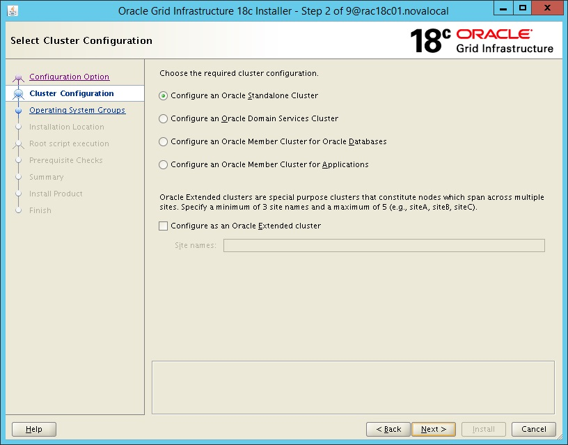 Oracle Database - Grid Infrastructure / RAC 18c Installation - Part