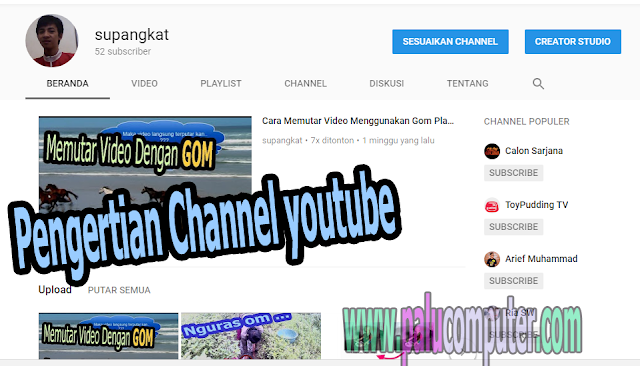 channel youtube adalah